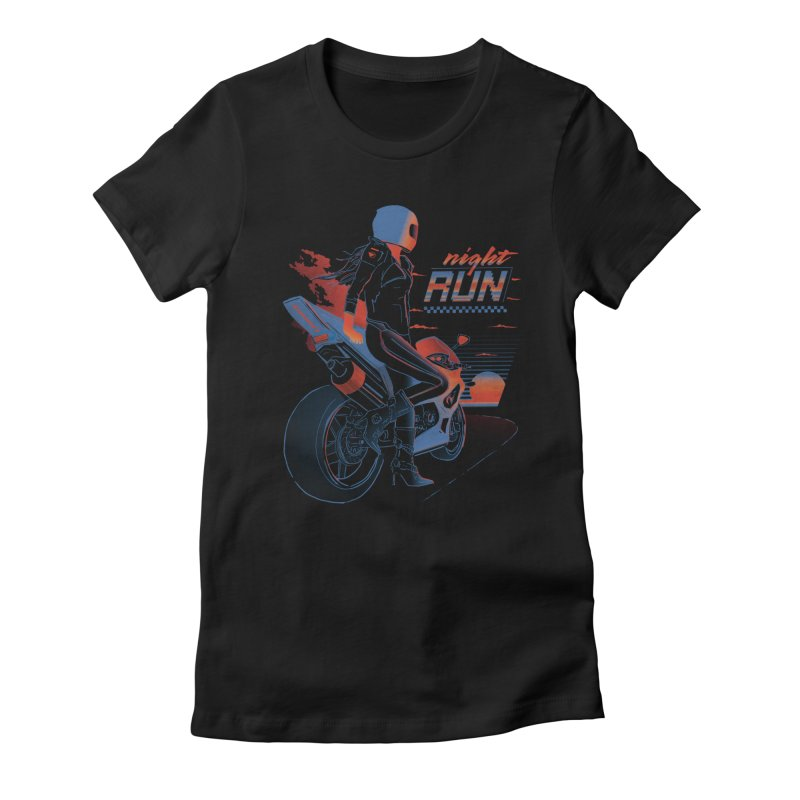 Night Run Women's Fitted T-Shirt by Dega Studios