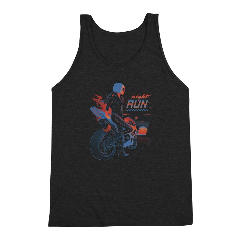 Night Run Men's Tank by Dega Studios