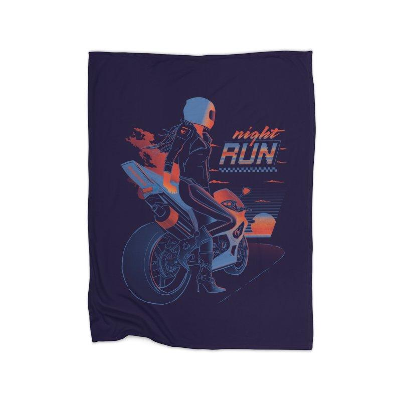 Night Run Home Blanket by Dega Studios