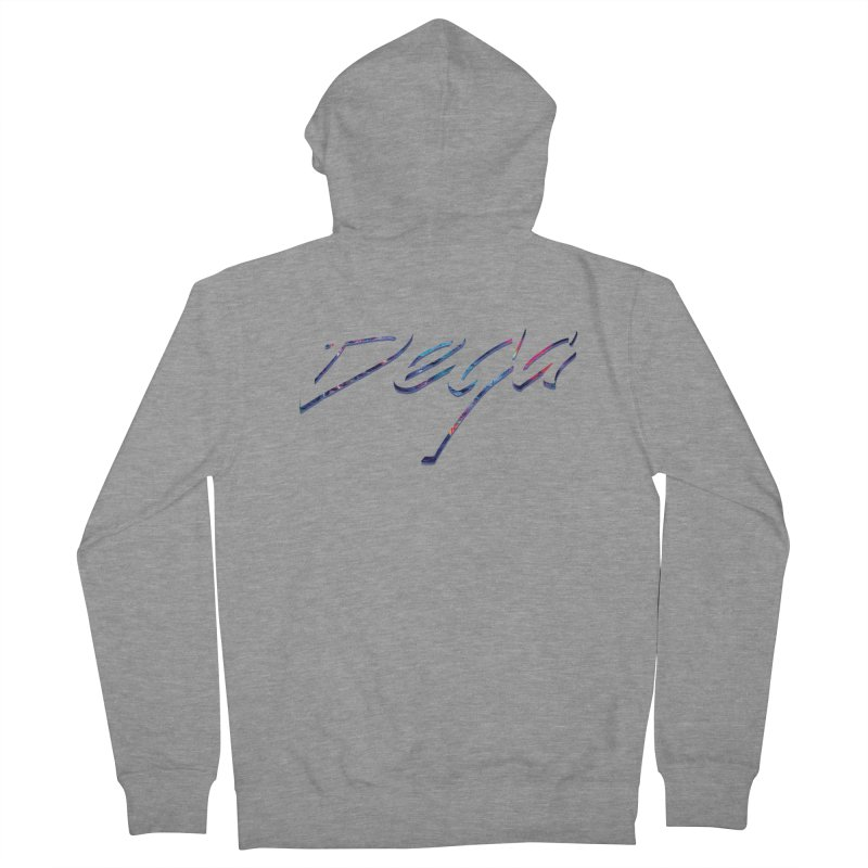 Dega Signature Tee Men's French Terry Zip-Up Hoody by Dega Studios