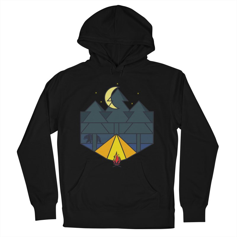 Night camp fire Men's Pullover Hoody by delcore's Artist Shop