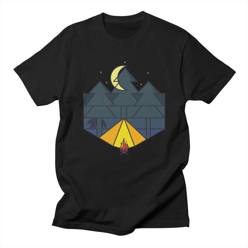 Night camp fire Men's T-shirt by delcore's Artist Shop