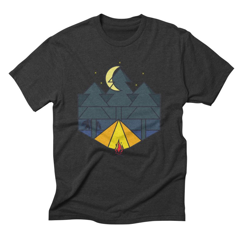 Night camp fire Men's Triblend T-shirt by delcore's Artist Shop