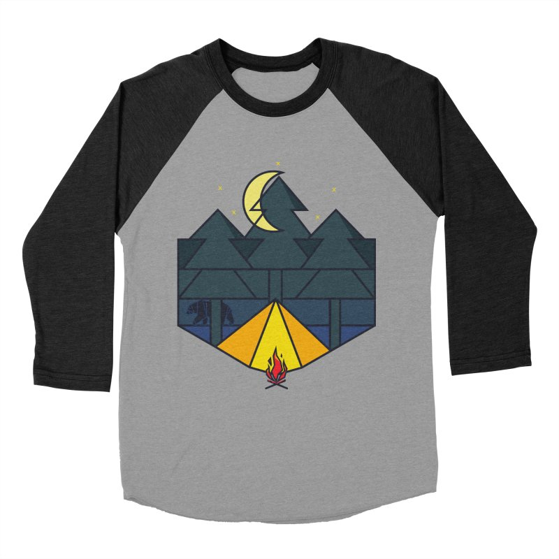 Night camp fire Women's Baseball Triblend T-Shirt by delcore's Artist Shop