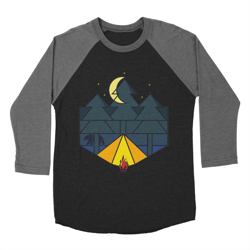 Night camp fire Men's Baseball Triblend T-Shirt by delcore's Artist Shop