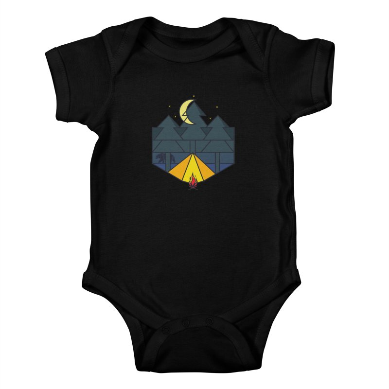 Night camp fire Kids Baby Bodysuit by delcore's Artist Shop