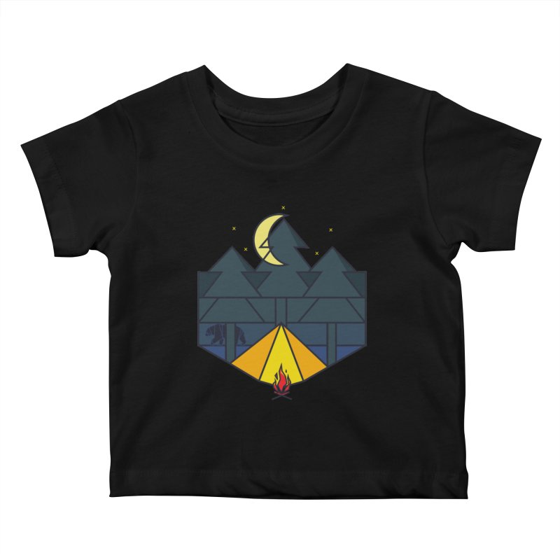 Night camp fire Kids Baby T-Shirt by delcore's Artist Shop