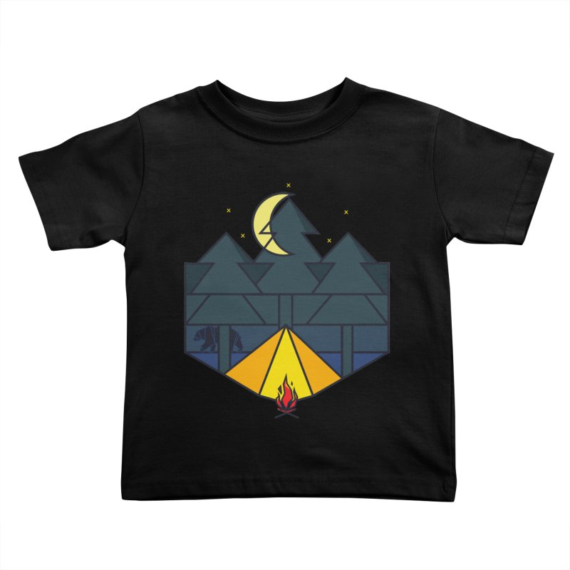 Night camp fire Kids Toddler T-Shirt by delcore's Artist Shop