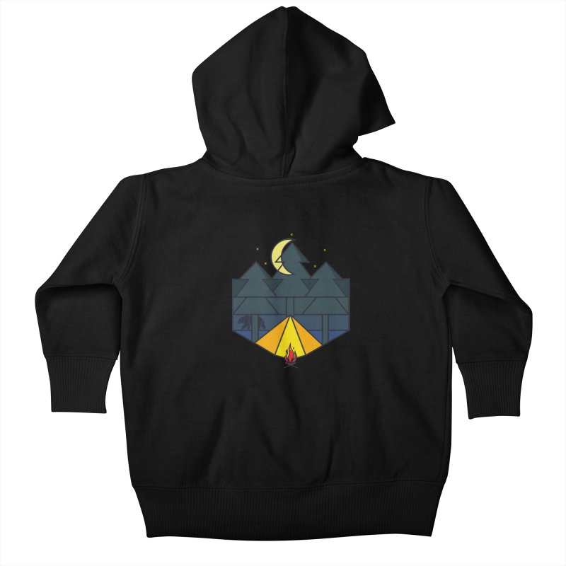 Night camp fire Kids Baby Zip-Up Hoody by delcore's Artist Shop