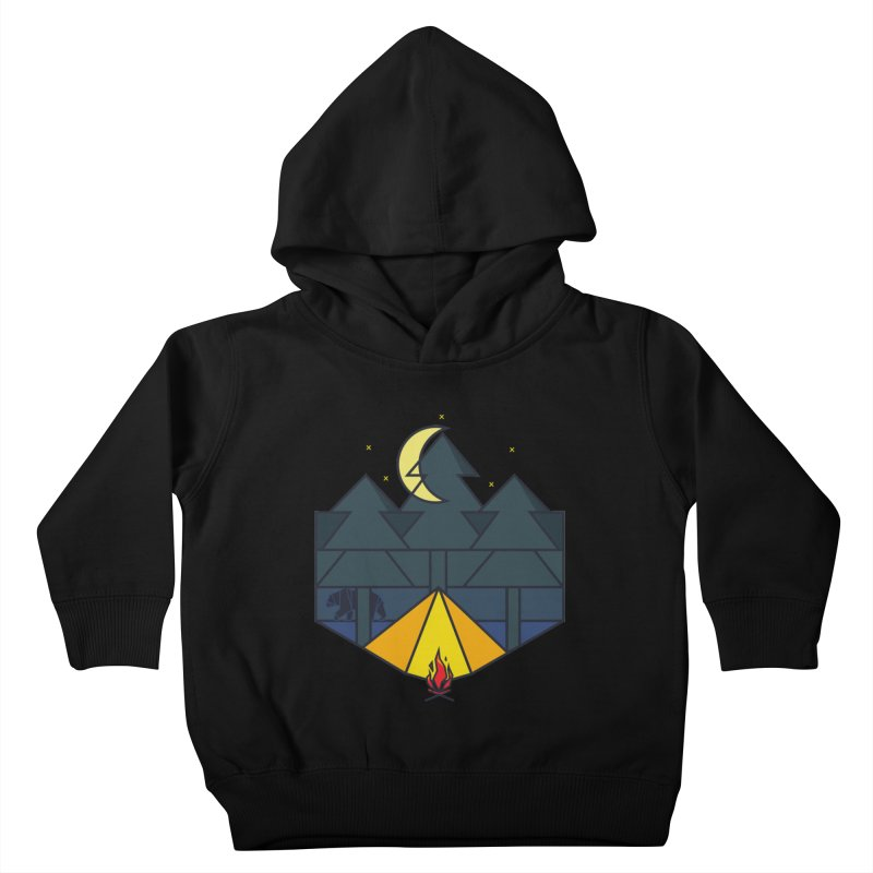 Night camp fire Kids Toddler Pullover Hoody by delcore's Artist Shop