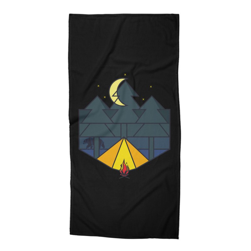 Night camp fire Accessories Beach Towel by delcore's Artist Shop
