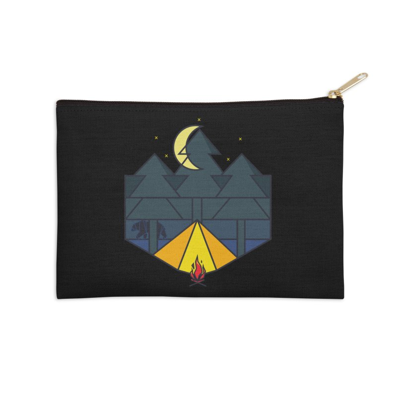 Night camp fire Accessories Zip Pouch by delcore's Artist Shop