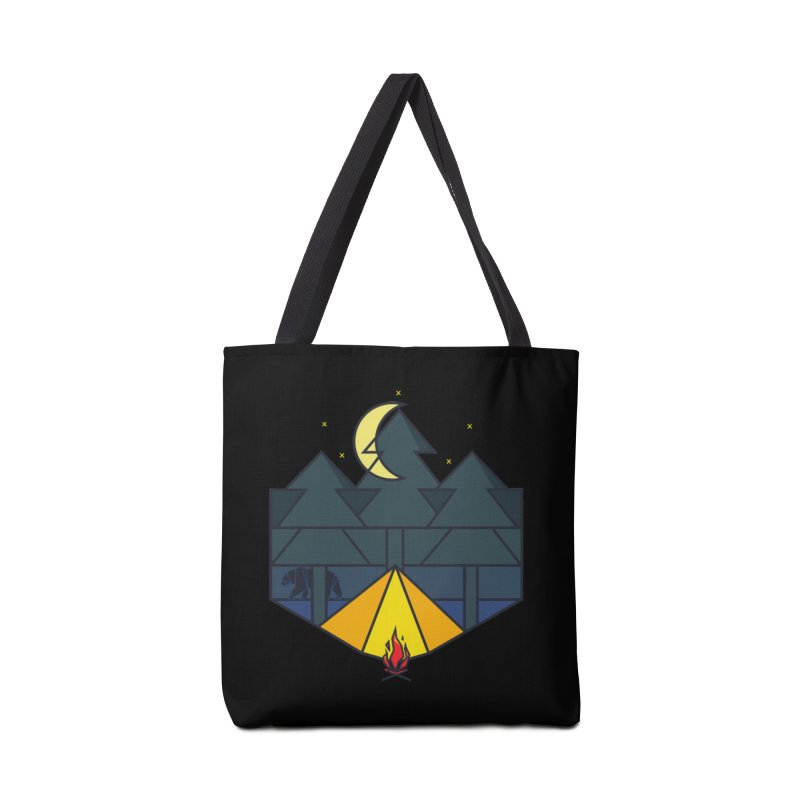 Night camp fire Accessories Bag by delcore's Artist Shop
