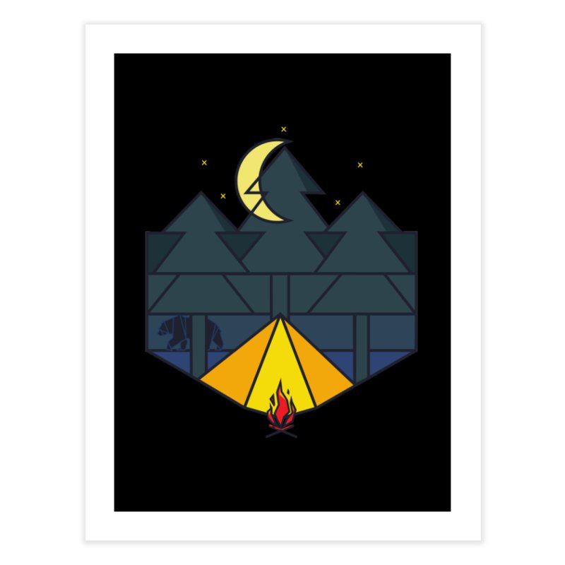 Night camp fire Home Fine Art Print by delcore's Artist Shop