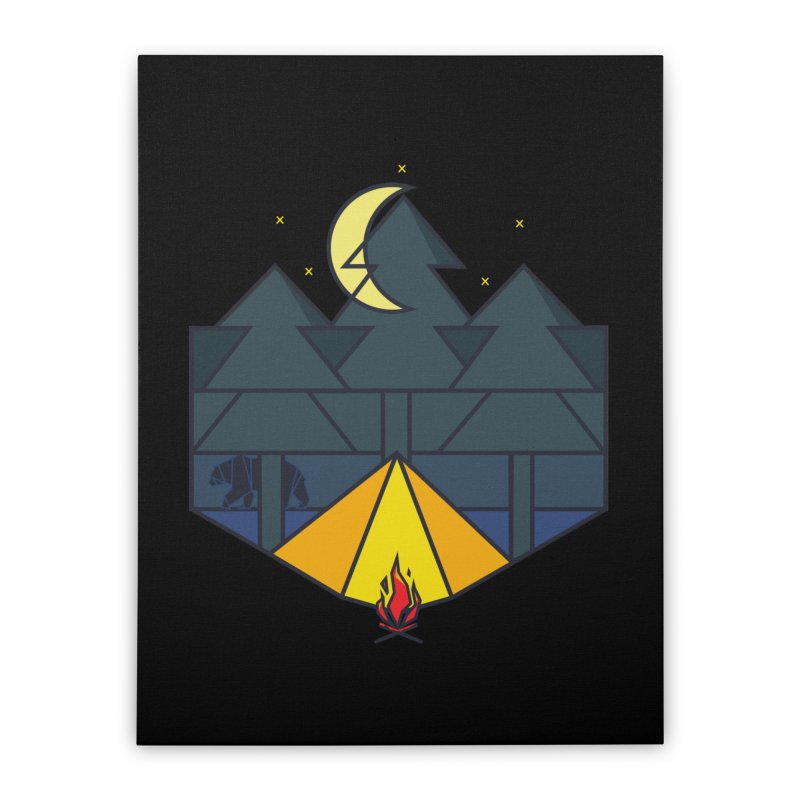 Night camp fire Home Stretched Canvas by delcore's Artist Shop