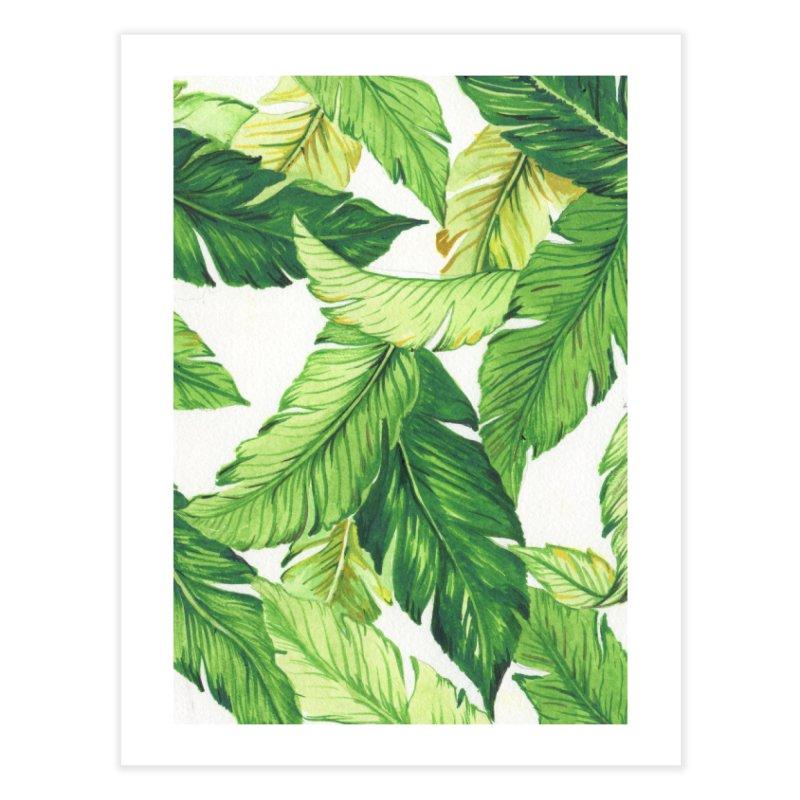 banana jungle Home Fine Art Print by delcore's Artist Shop