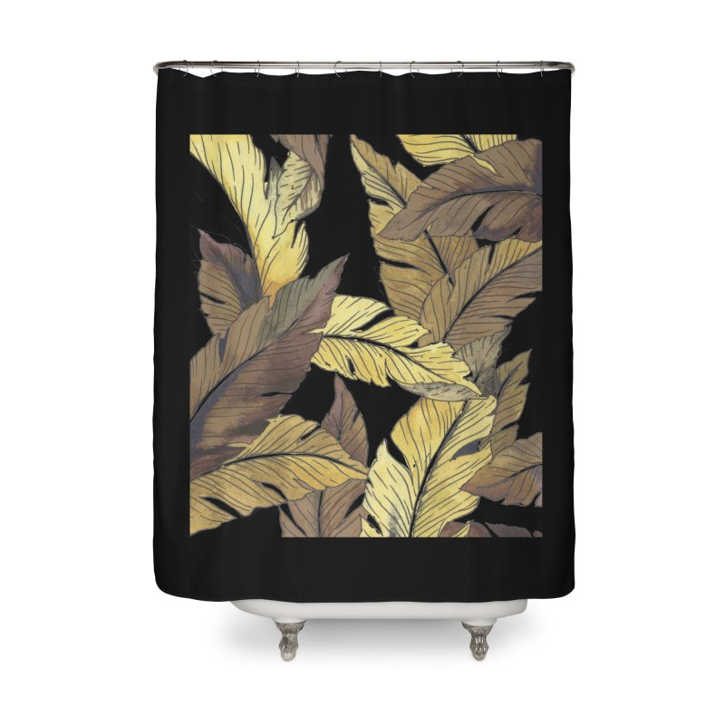 banana jungle ii Home Shower Curtain by delcore's Artist Shop