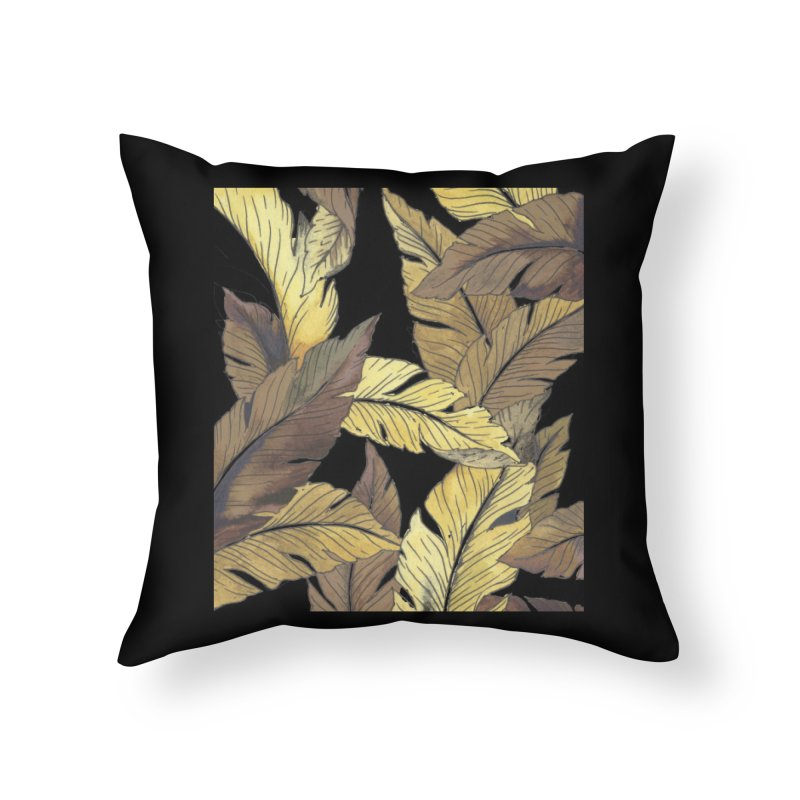 banana jungle ii Home Throw Pillow by delcore's Artist Shop