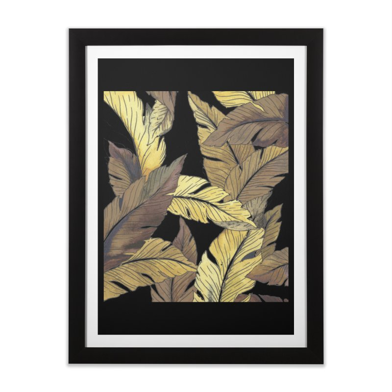 banana jungle ii Home Framed Fine Art Print by delcore's Artist Shop