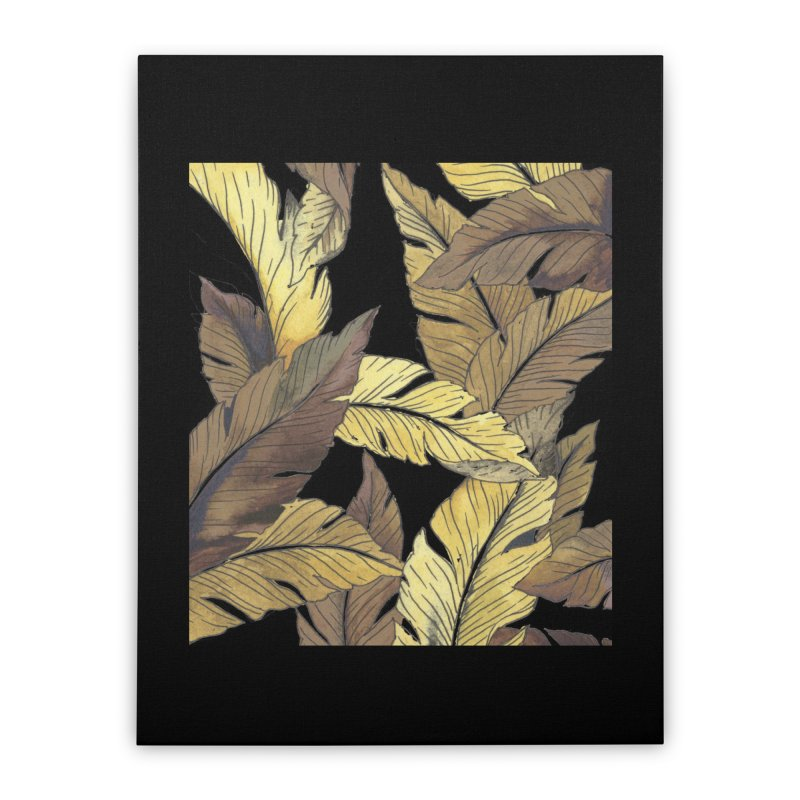banana jungle ii Home Stretched Canvas by delcore's Artist Shop