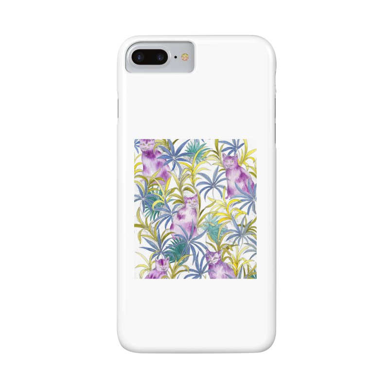 Cats in the garden Accessories Phone Case by delcore's Artist Shop