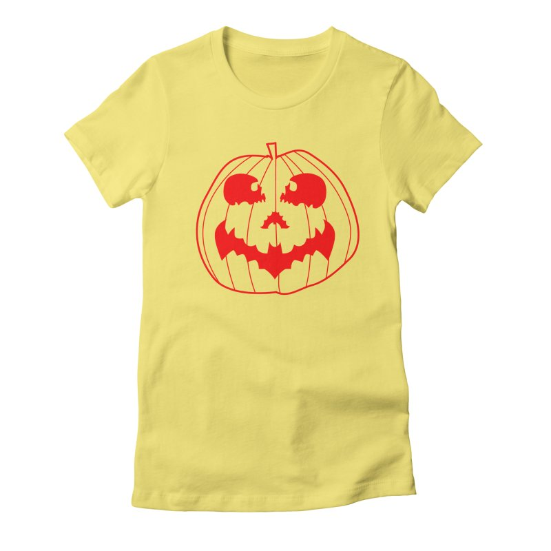 happyholloween Women's Fitted T-Shirt by delcore's Artist Shop