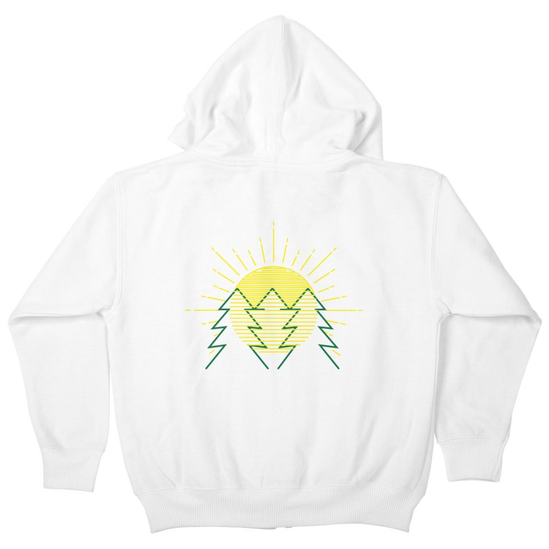 Sunny Day Kids Zip-Up Hoody by delcore's Artist Shop