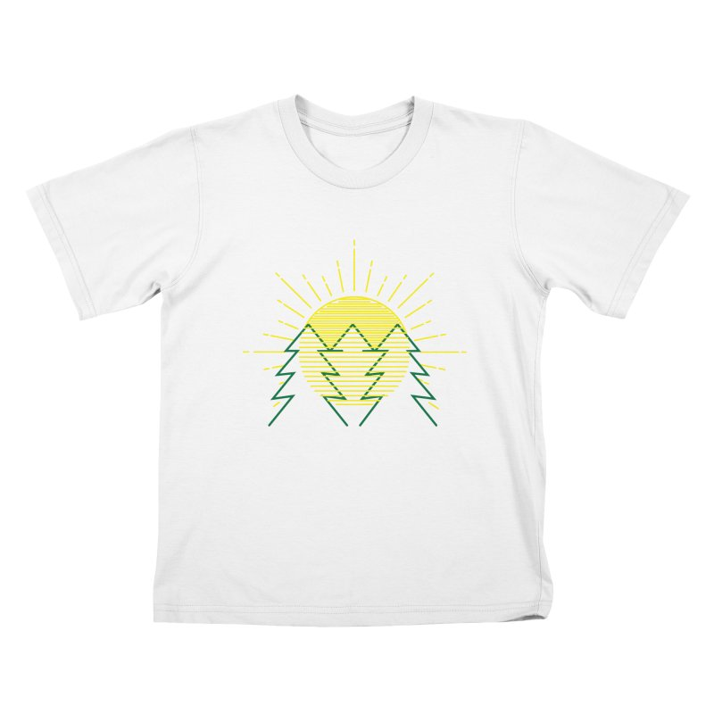 Sunny Day Kids T-Shirt by delcored