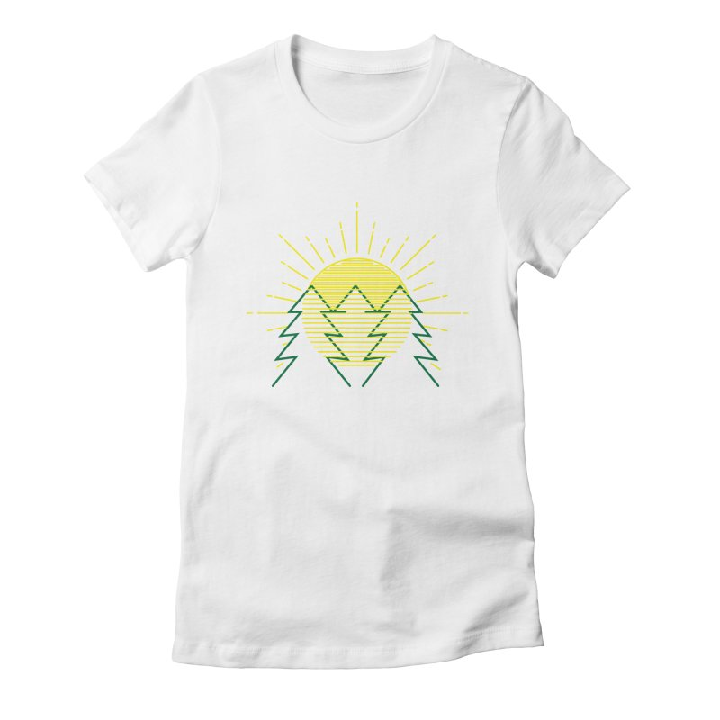 Sunny Day Women's Fitted T-Shirt by delcored