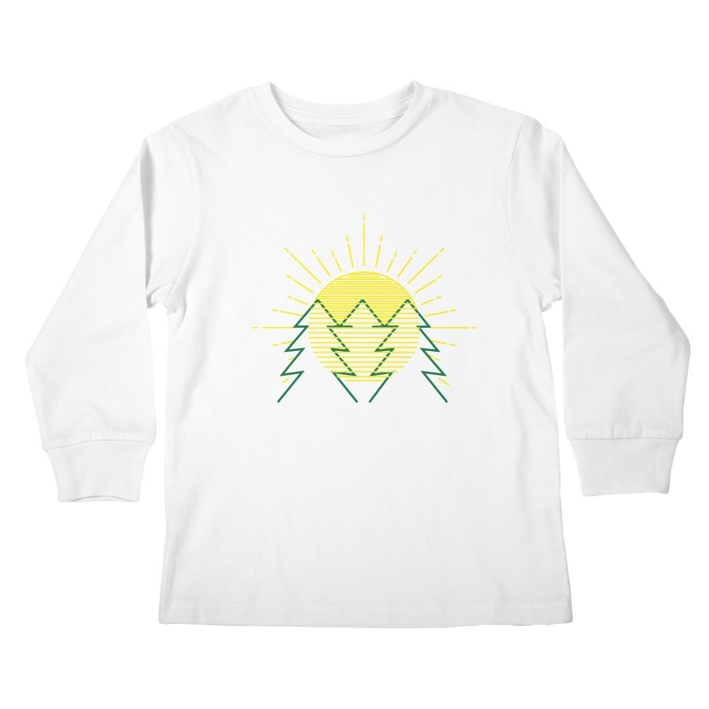 Sunny Day Kids Longsleeve T-Shirt by delcored