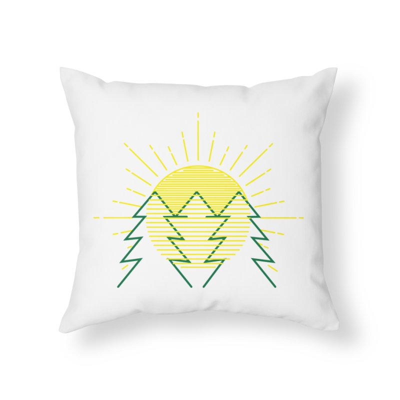 Sunny Day Home Throw Pillow by delcored