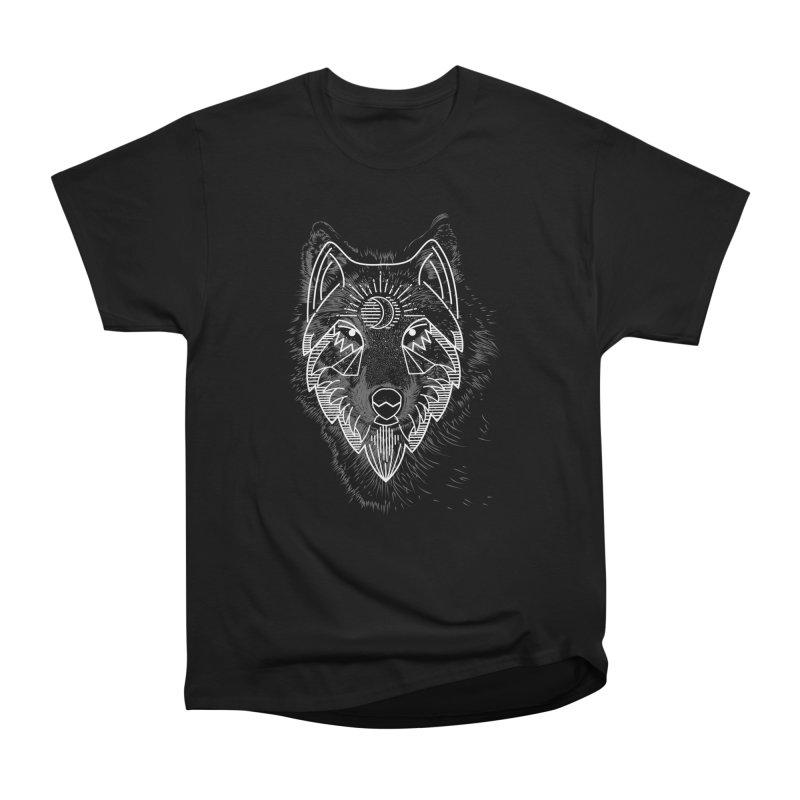 Wolfie in Men's Heavyweight T-Shirt Black by delcored