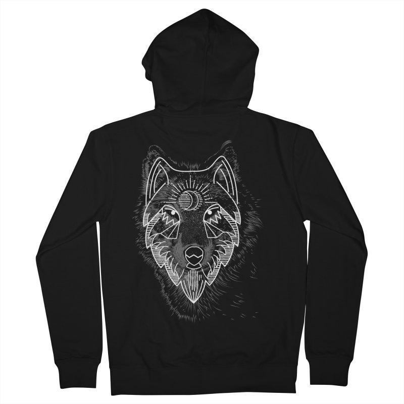 Wolfie Men's Zip-Up Hoody by delcored