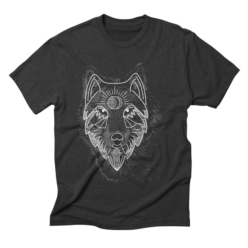 Wolfie Men's Triblend T-Shirt by delcored