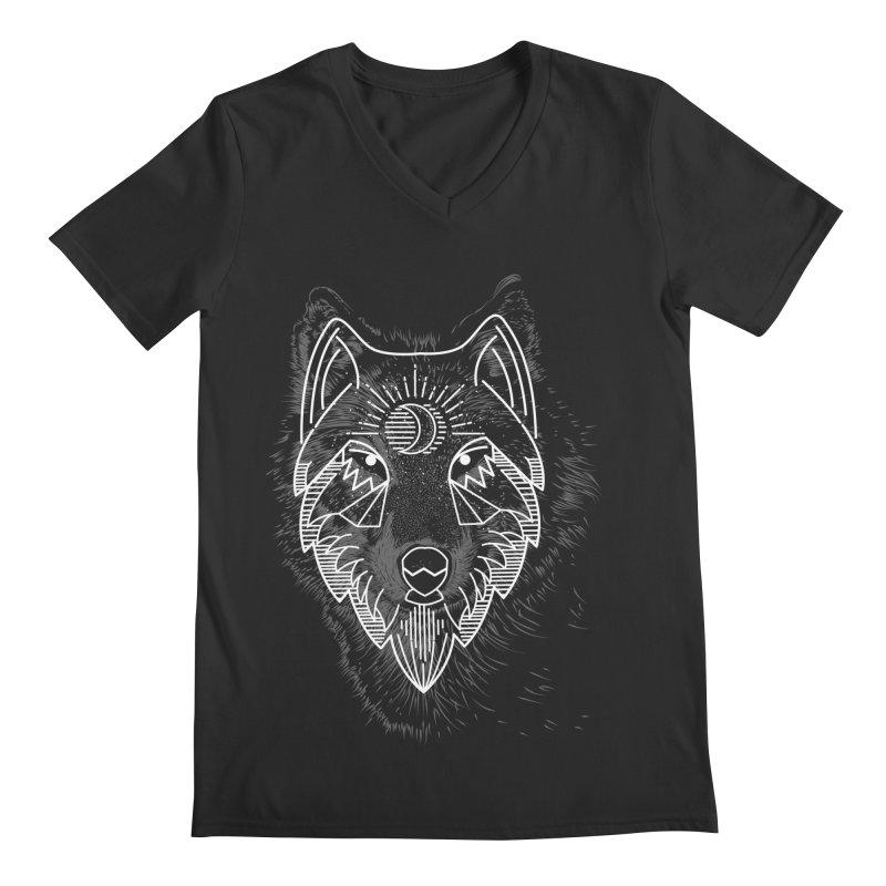 Wolfie Men's V-Neck by delcored
