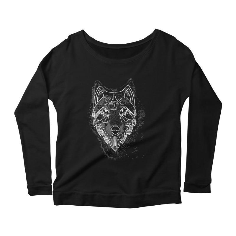 Wolfie Women's Longsleeve Scoopneck  by delcored