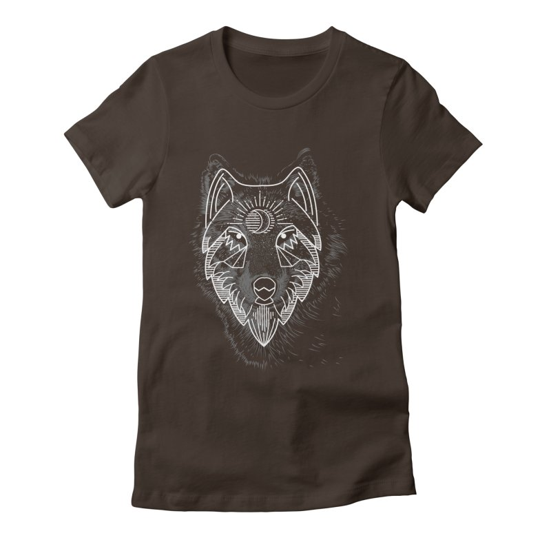 Wolfie Women's Fitted T-Shirt by delcored