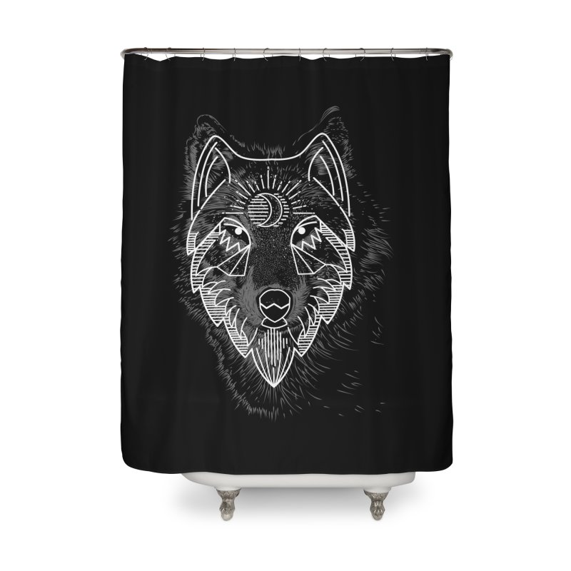 Wolfie Home Shower Curtain by delcored