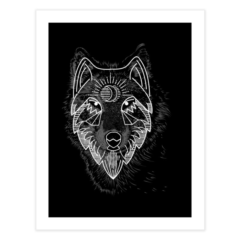 Wolfie Home Fine Art Print by delcored
