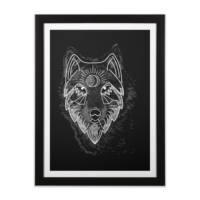 Wolfie Home Framed Fine Art Print by delcored