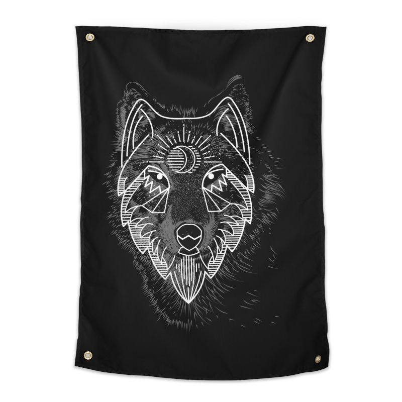 Wolfie Home Tapestry by delcored