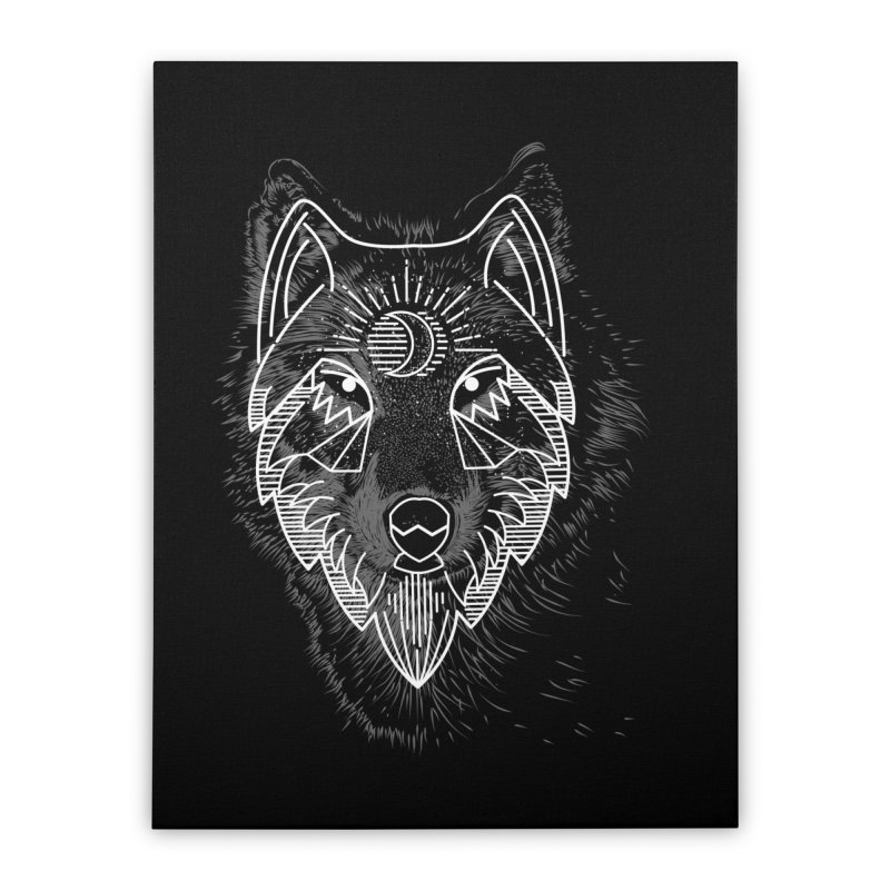 Wolfie Home Stretched Canvas by delcored