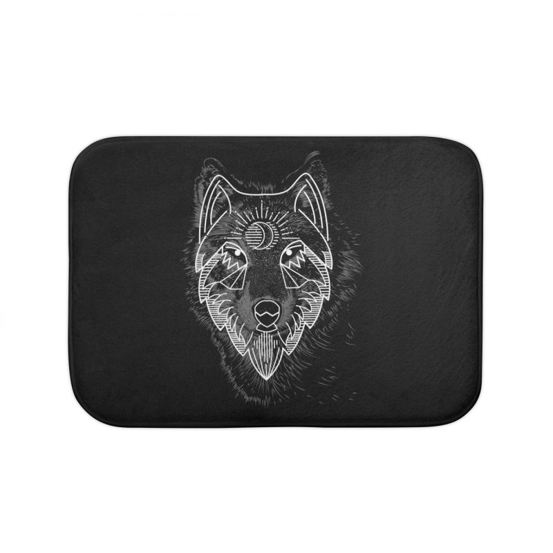 Wolfie Home Bath Mat by delcored