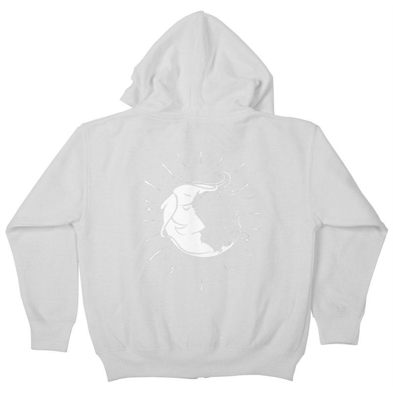 switchs the moon Kids Zip-Up Hoody by delcored