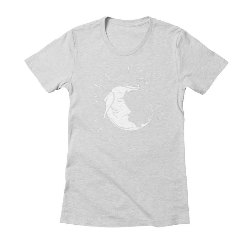 switchs the moon Women's Fitted T-Shirt by delcored