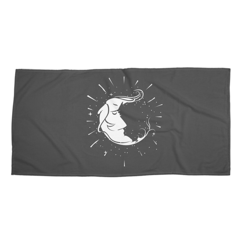switchs the moon Accessories Beach Towel by delcored