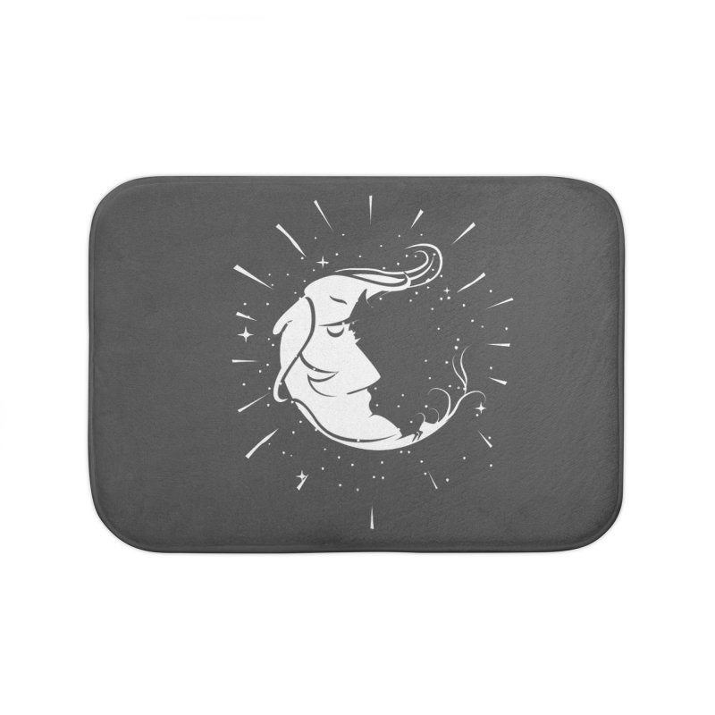 switchs the moon Home Bath Mat by delcored
