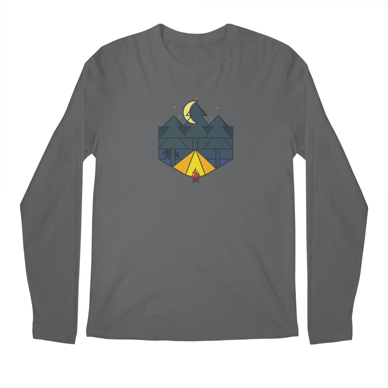 night camp Men's Longsleeve T-Shirt by delcored