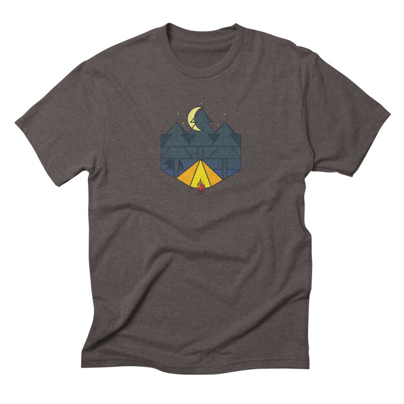 night camp Men's Triblend T-Shirt by delcored