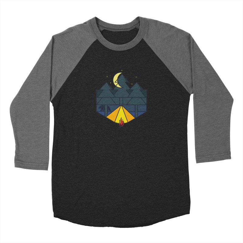 night camp Men's Baseball Triblend T-Shirt by delcored